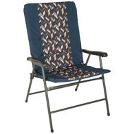 Zig Zag Padded Folding Chair, Blue