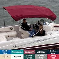 """Shademate Sunbrella 3-Bow Bimini Top, 6'L x 36""""H, 73""""-78"""" Wide"""