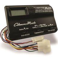 Digital Two-Stage Thermostat, Heat/Cool/Heat Pump, Black