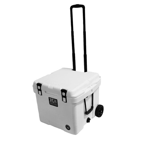 K2 Summit 30 Quart Wheeled Cooler, Glacier White