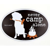Never Camp Alone Magnet