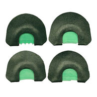 Quaker Boy Screamin' Green Gobblin' Fever Turkey Mouth Call 4-Pack