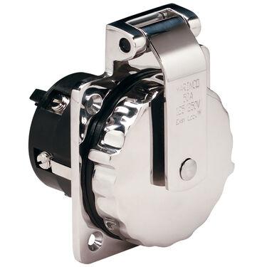 Marinco Stainless Steel Easy Lock Power Inlet, 50-Amp 125/250V