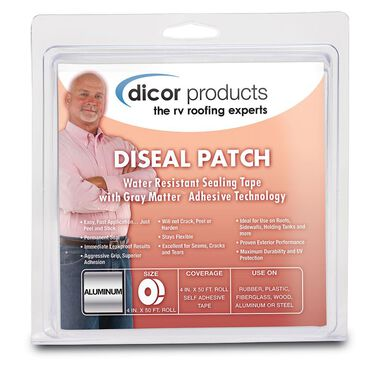 "Dicor DiSeal Tape - 4"" x 50' Roll - Foil"