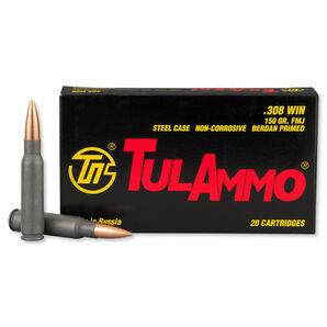 TulAmmo Rifle Ammunition, .308 Win, 150-gr., FMJ