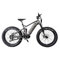"QuietKat Ridgerunner 1000-Watt Full-Suspension Electric Mountain Bike 19"", Charcoal"