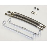 """Dual Tire Inflators - Hand Hole Mount Stainless Steel - 2 hose kit for 16""""-19.5"""" inner dual wheels"""
