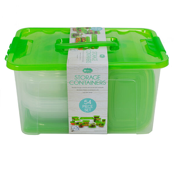 Home Collections 54-Piece Food Storage Container Set, Green