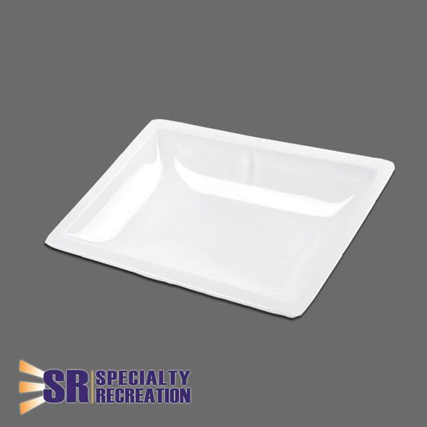 "Rectangular Inner Skylight Garnish, White 14"" x 22"""
