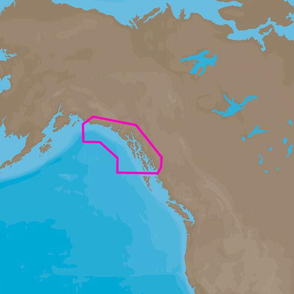 C-MAP 4D NA-D959 Cartography, Dixon Entrance To Cape St. Elias