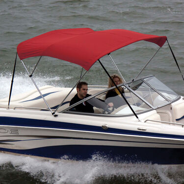 Shademate Sunbrella Stainless 3-Bow Bimini Top 6'L x 46''H 85''-90'' Wide
