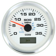 "Sierra White Premier Pro 3"" GPS Speedometer With LCD, 35 MPH"