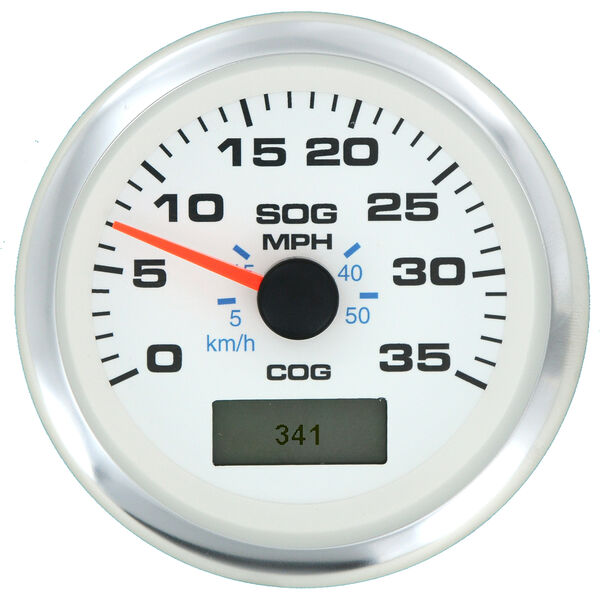 """Sierra White Premier Pro 3"""" GPS Speedometer With LCD, 35 MPH"""