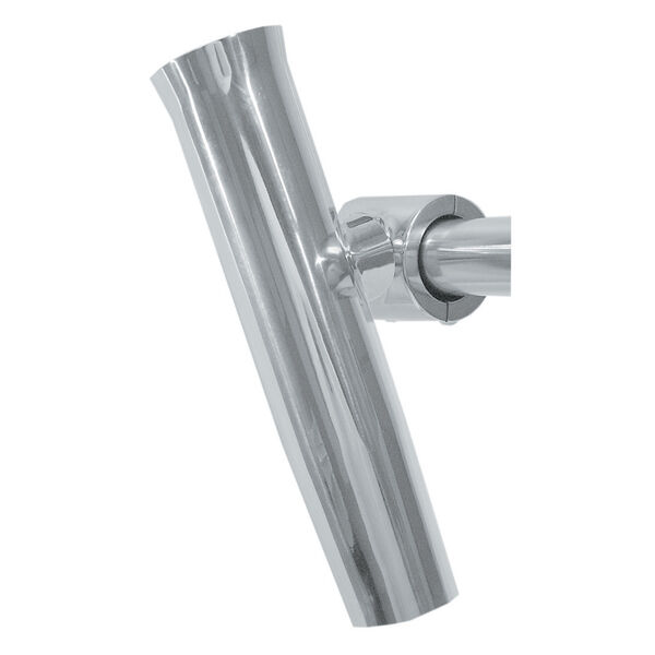 """Taco Stainless Steel Clamp-On Fishing Rod Holder, Fits 1-1/4"""" And 1-1/2"""" Pipe"""