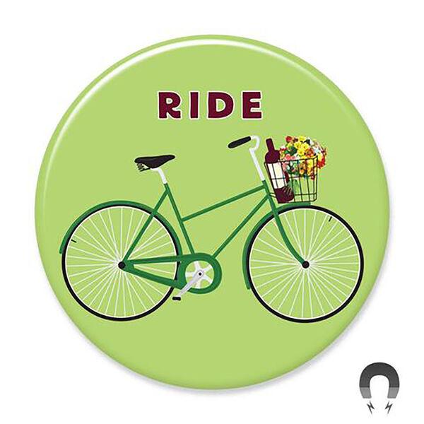Badge Bomb Green Ride Big Magnet