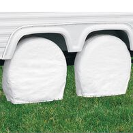 "Classic Accessories OverDrive RV Wheel Cover, Pair, Wheels 27"" - 30"" Diameter, 8.75"" Tire Width, White"