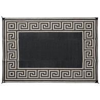Patio Mat, Greek Key 8' x 11' Black/Taupe