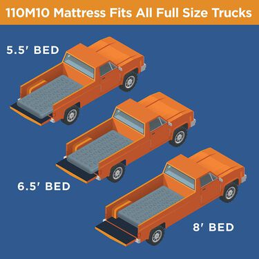 Rightline Gear Full-Size Truck Bed Air Mattress, fits 5.5' - 8' truck beds