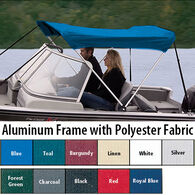 """Shademate Polyester 2-Bow Bimini Top, 5'6""""L x 42""""H, 67""""-72"""" Wide"""