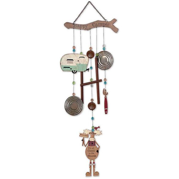 Moose & Teardrop Happy Camper Wind Chime