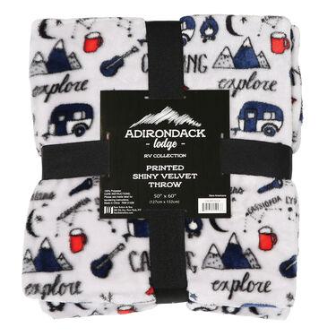 "Adirondack Lodge RV Collection Velvet Throw, 50"" x 60"", Stars Americana"