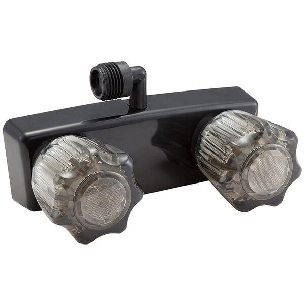 Dura Faucet RV Shower Faucet for Exterior Shower Boxes, Black