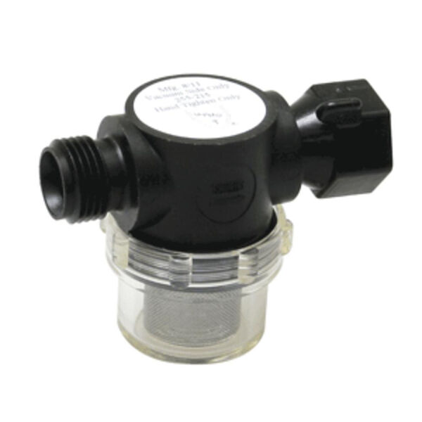 "Shurflo Swivel Nut Strainer with 1/2"" Pipe Inlet"