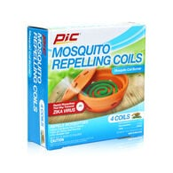 PIC Mosquito Repelling Coils with Coil Burner, 4-Pack