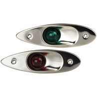 Sea-Dog Stainless Steel Flush-Mount Side Navigation Lights, Pair