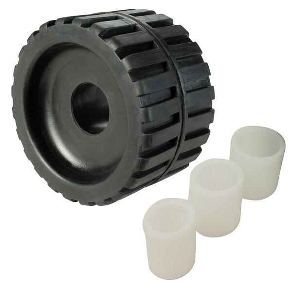 """Rubber Ribbed Wobble Roller, 4"""""""