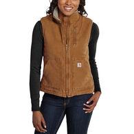 Carhartt Women's Sandstone Sherpa-Lined Mock-Neck Vest