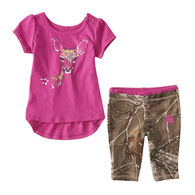 Carhartt Infant Girls' Water Color Capri Set