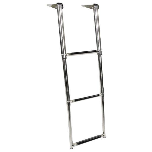 Overton's Top Mounted 3 Step Stainless Steel Folding Swim Platform Ladder