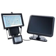 Outdoor Solar Motion Activated LED Security Light, Black