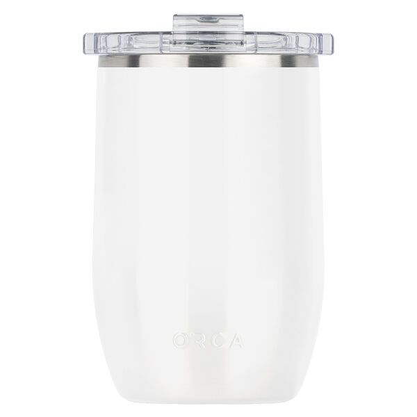 Orca Vino 12-oz. Stainless Steel Cup w/Clear Lid, Pearl White