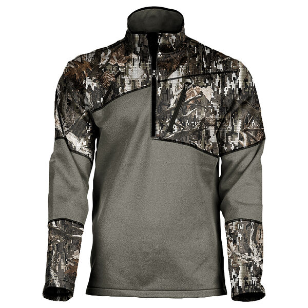 Black Antler Men's Leopard Quarter-Zip Pullover