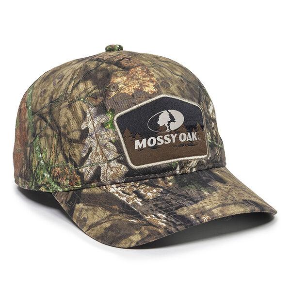 Mossy Oak Patch Logo Camo Mesh-Back Cap