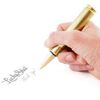 Lucky Shot USA 50-Caliber Bullet Twist Ink Pen, Brass