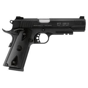 Taurus PT 1911 Handgun, .45 ACP, Blued, Railed
