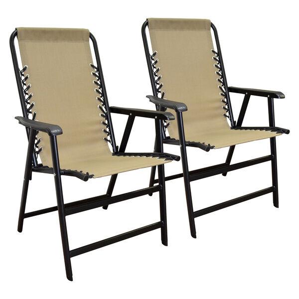 Caravan Canopy Infinity Suspension Folding Chair Beige 2