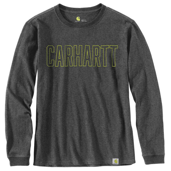 Carhartt Workwear Block Logo Graphic Long-Sleeve T-Shirt