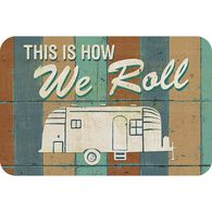 """Reversible Placemat, """"How We Roll"""""""