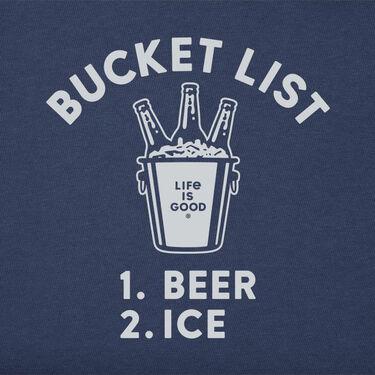 Life Is Good Men's Bucket List Short-Sleeve Crusher Tee