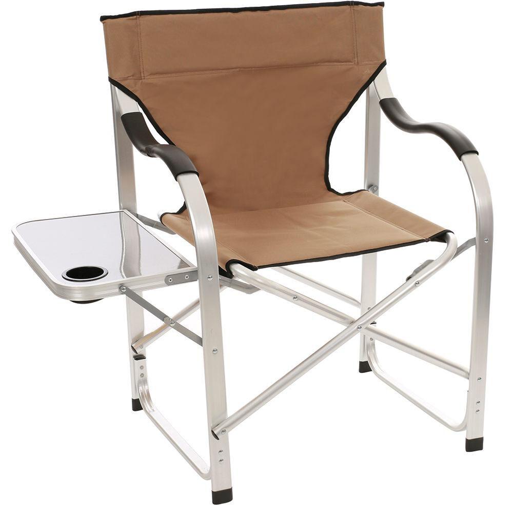 Admirable Aluminum Extra Large Directors Chair Tan Machost Co Dining Chair Design Ideas Machostcouk