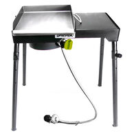 Bayou Classic Single Patio Camp Stove w/Side Shelf and Griddle