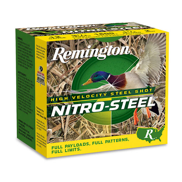 "Remington Nitro-Steel High-Velocity Steel Shot, 12-Ga., 3"", #4 Shot"