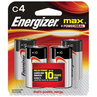 Energizer MAX C Batteries, 4-Pack
