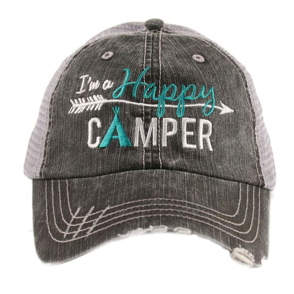'I'm A Happy Camper', Katydid Women's Trucker Hat