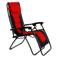 Padded Zero Gravity Chair, Red