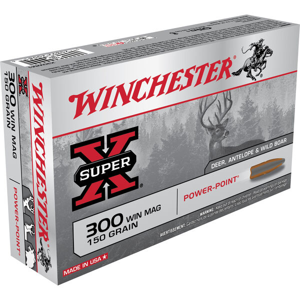 Winchester Super-X Rifle Ammo, .300 Win Mag, 150-gr., PP